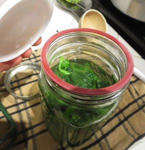 canning spinach