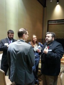 Here I am speaking with Libertarian Party of Texas Vice Chair Ben Farmer, LP Texas Chair Kurt Hildebrnad, and Outright Libertarians of Texas Chair and Secretary of the national organization Kerry Douglas McKennon.
